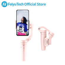 FeiyuTech Vlog Pocket MINI 3-Axis Handheld Smartphone Gimbal Stabilizer for iPhone X 8 7 Plus 6, HUAWEI P30 pro、MI 9、VIVO(Pink)