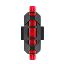 5 LED Rechargeable USB Bike TailLight Bicycle Safety Cycling Warning Rear Lamp Portable Flash Light Super Bright(China)