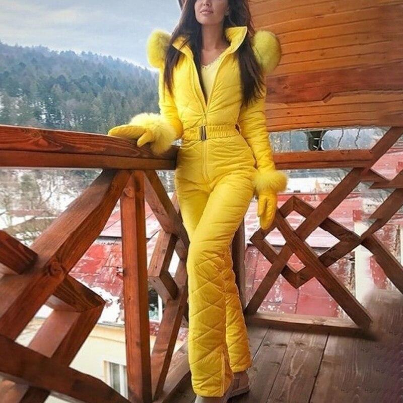 Lightweight Women Lady Winter Warm Snowsuit Outdoor Sport Pants Ski Suit Waterproof Trousers White Black Pink Yellow Dark Blue
