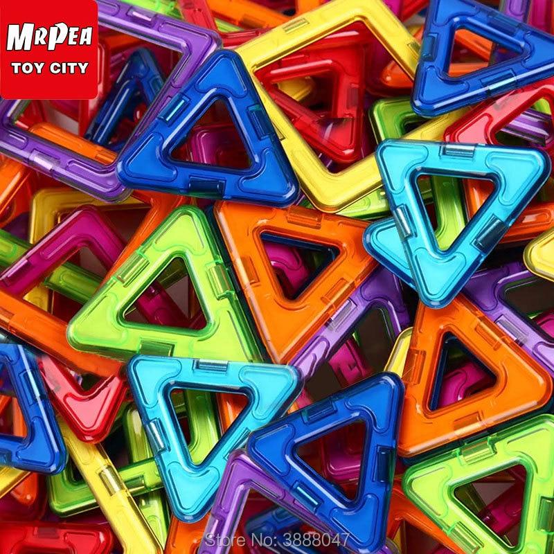 Diseñadores de construcción magnética bloques de construcción conjunto de gran tamaño 38-128 piezas accesorios juegos educativos juguetes para niños