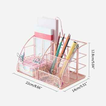 Multi-function Desk Organizer All In One Desktop with Pen Paper Holder School Office Stationery Storage Rack supply