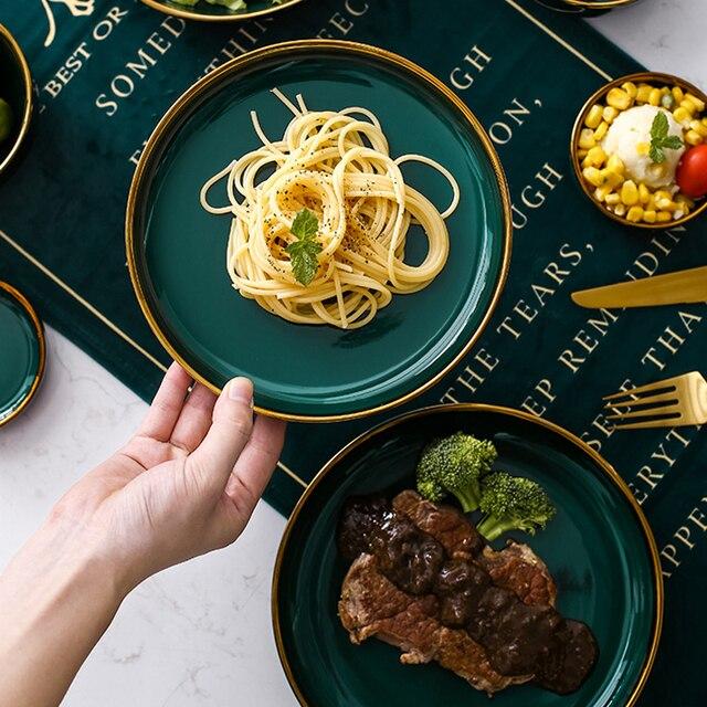 Green Ceramic Tableware