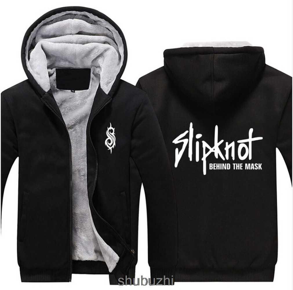 Slipknot за маской утолщенная Толстовка Slipknot теплый, зимний, флисовый худи утепленное пальто