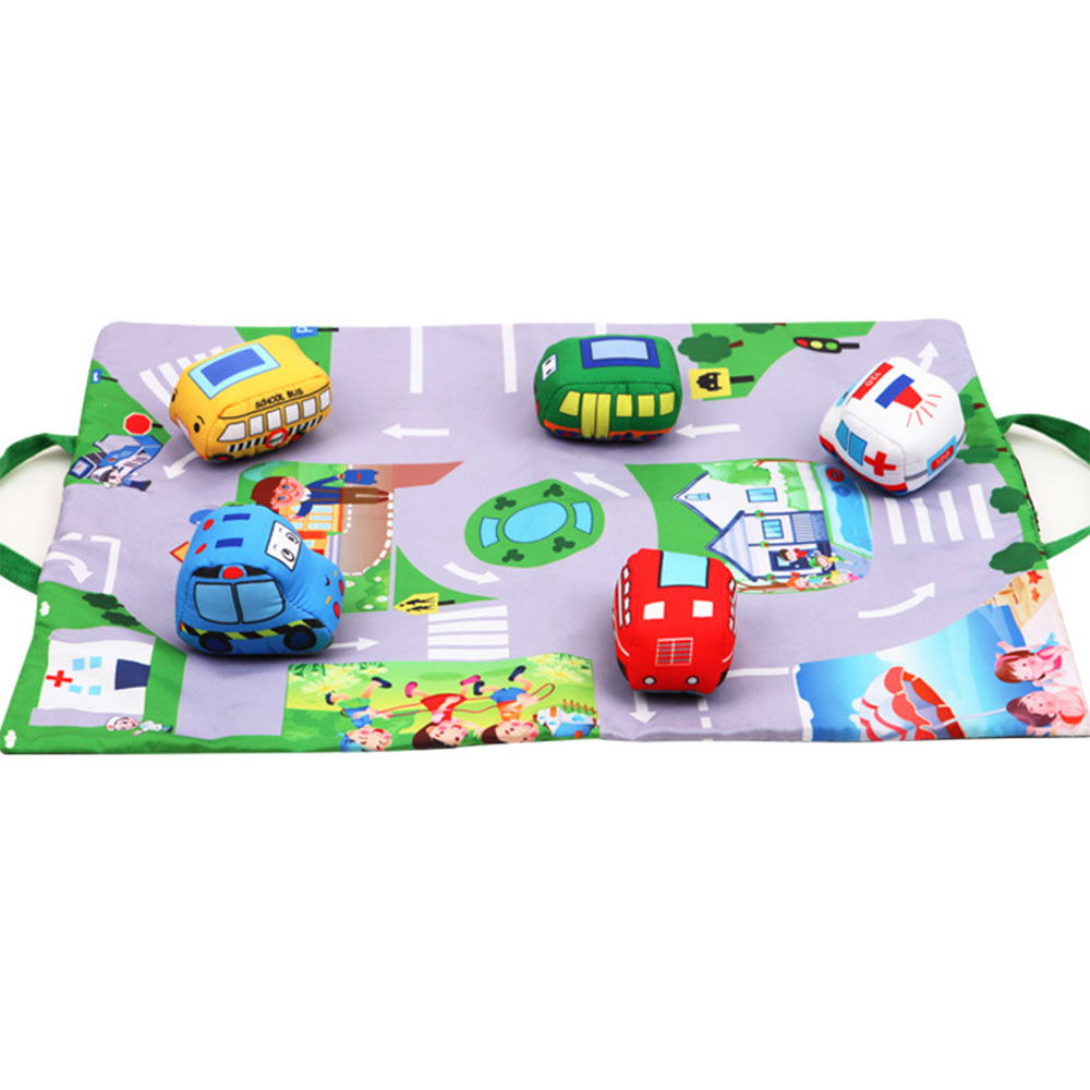 Baby Play Mat Pad Infants Kids Room Mini Crawling Carpet Cartoon Floor Rug Toddler Car Farm Animal Toy Foldable Play Mat