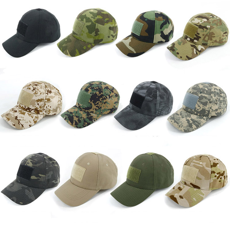 HAN WILD Outdoor Sport Caps Camouflage Hat Baseball Caps Simplicity Tactical Military Army Camo Hunting Cap Hats Unisex