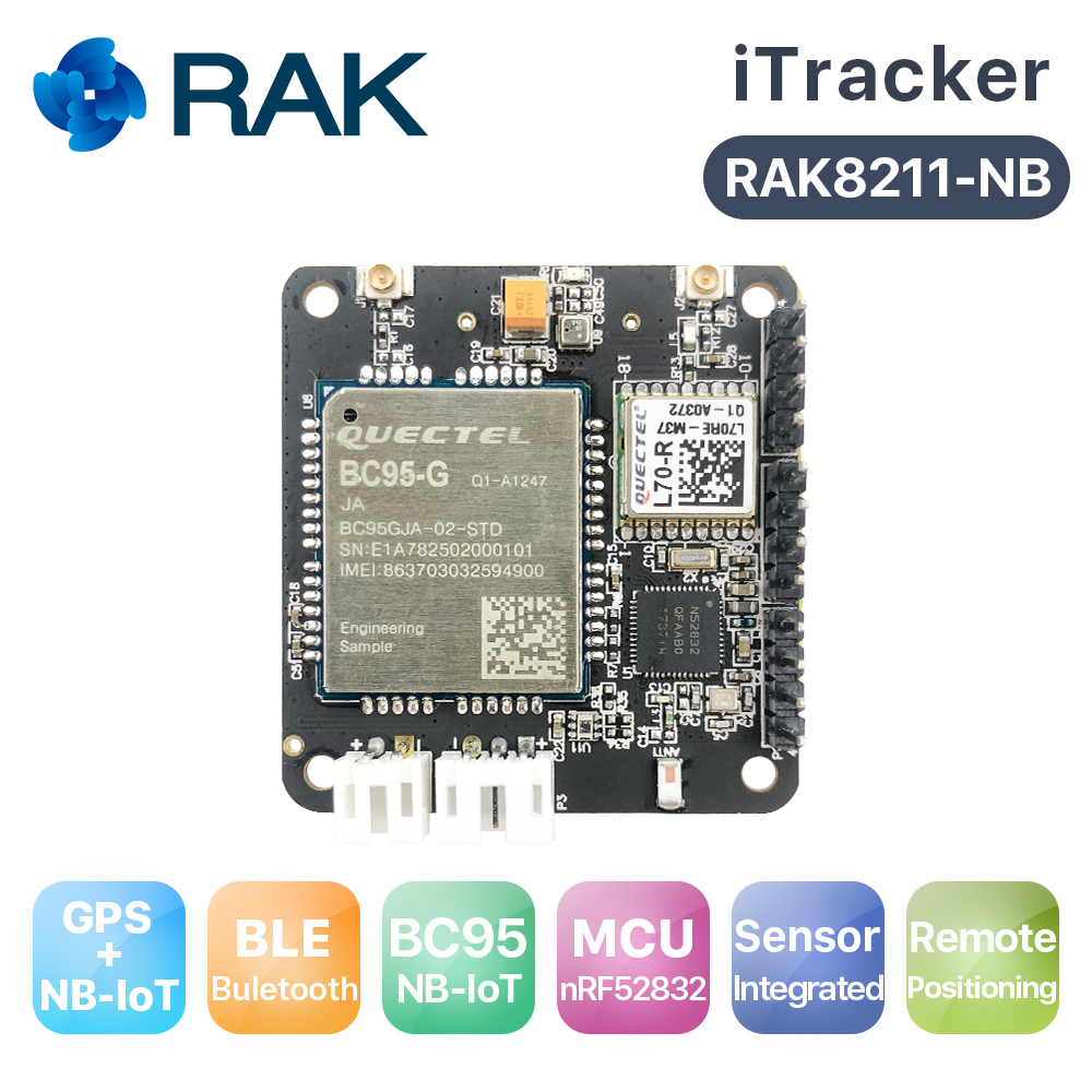 ITracker Remote Positioning Tracker Module Bluetooth 5.0 To NB-IoT Sensors Node, Gateway, BLE, GPS Module BC95-G NORDIC52832Q076
