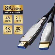HDMI-совместимый волоконно-оптический преобразователь HDMI-совместимый кабель 2,0 10 м/20 м/30 м/50 м 60 Гц удлинитель 4K для Hd ТВ ЖК ноутбука Ps4