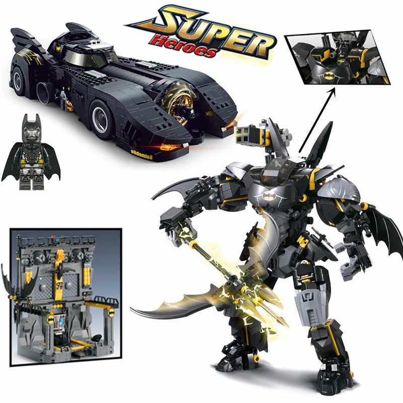 Baru 1778 Pcs Super Hero Batman Ultimate Batmobile Armor Foundation Basis Legoings MOC-15506 70901 Blok Bangunan Batu Bata