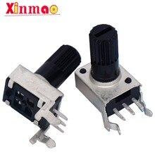 10pcs RV09 horizontal 12.5 milímetros Eixo 50 10 5K K K 100K 0932 Resistor Ajustável tipo 9 3Pin Selo Potenciômetro Interruptor Regulador Novo