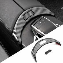 Accoudoir central de voiture avec boutons de boîte, décoration de cadre, garniture autocollante pour Mercedes Benz classe C W205 GLC X253 de 2015 à 2020