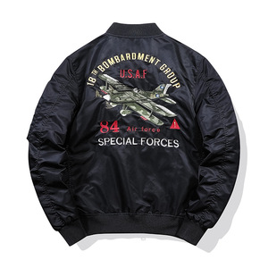 Image 5 - Thicken Thermal Pilot MA1 Jacket Men Tace & Shark Brand Embroidery Bomber Jacket Tactical Military Parka Men Plane Streetwear