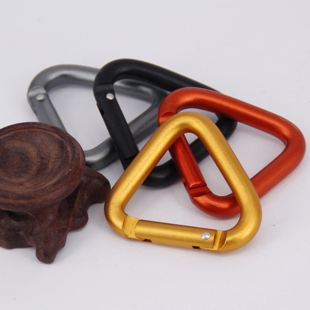 1PC Triangle Carabiner Outdoor Camping Hiking Keychain Kettle Buckle Snap Cli PE