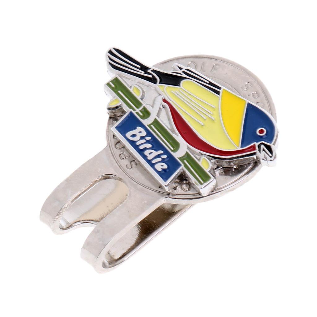 Cute Bird Pattern Magnetic Hat Clip Golf Ball Marker For Golf Cap Visor Golfer Chirstmas Birthday Gift