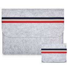 Fashion Wool Felt Laptop Sleeve Bag Notebook Handbag Case Fo