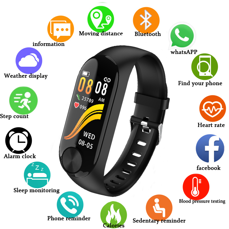 Smart Bracelet Health Heart Rate Watches Blood Pressure Monitoring Y10 Waterproof Smart Wristband For Men Women Pk M3 Smartband image