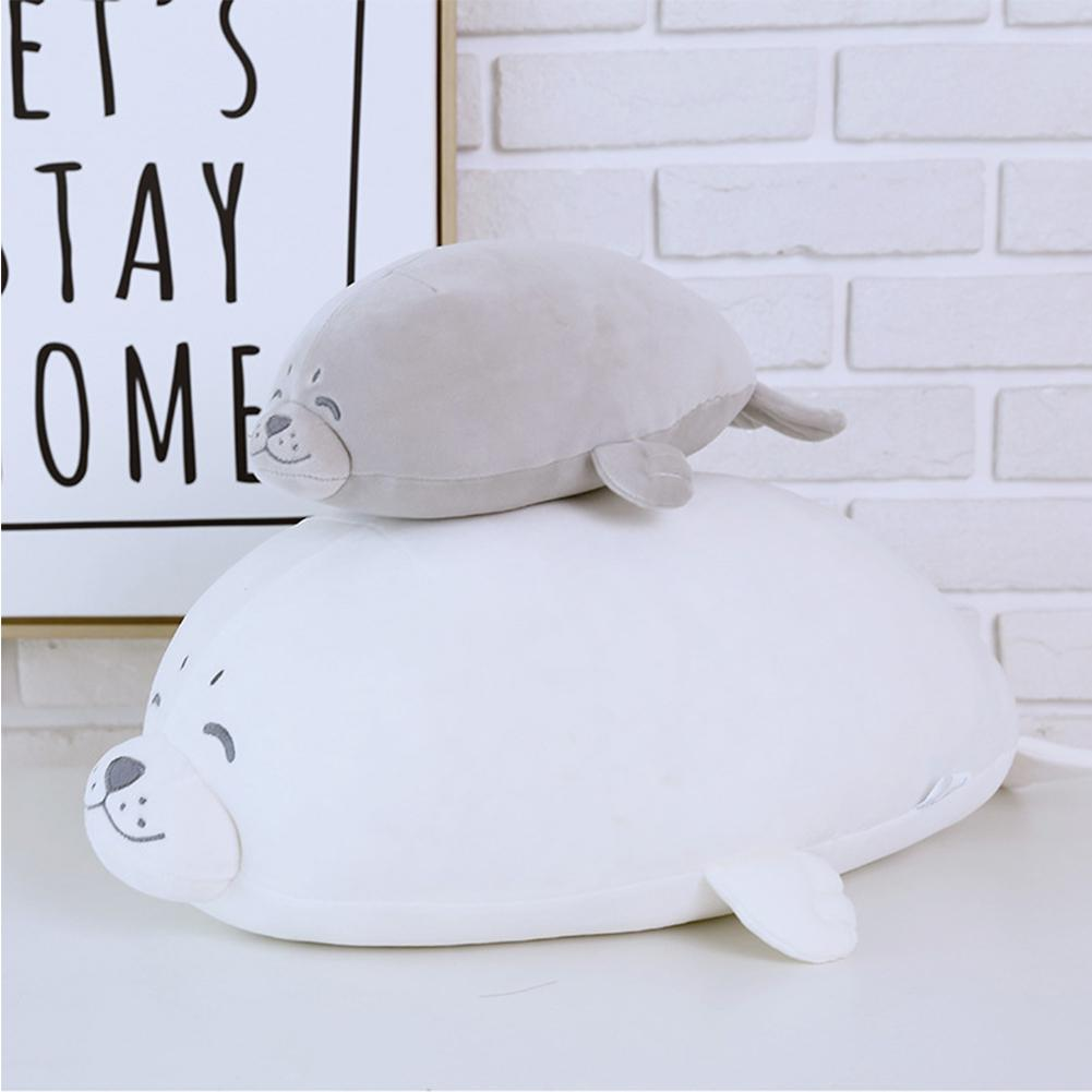None Soft Simulate Stuffed Seal Doll Elastic Plush Toy Halloween Christmas Birthday Gift Party Wedding Ornament Throw Pillow