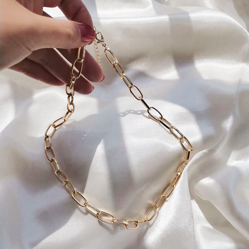 Gold Chain Necklace Chokers For Women Gold Color Geometric Pendant Necklaces Boho Maxi Statement Party Jewelry 2