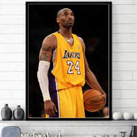 Great Basketball Player idol Kobe Bryant 24 Poster Modern Simple Living Room Decoration Canvas Painting Wall Art Home Deocor