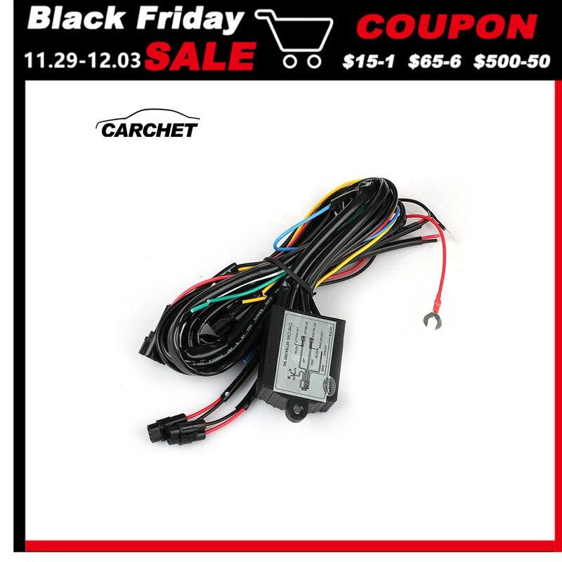 Carchet drl daytime running led luz relé chicote de fios controle em fora dimmer luzes diurnas do carro