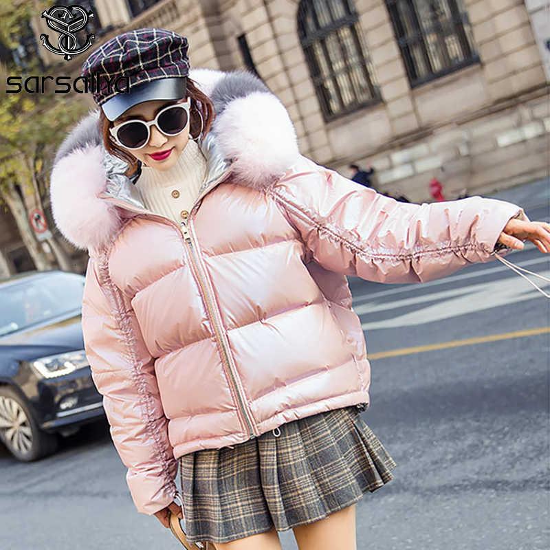 Kadın kış aşağı ceket palto kapşonlu gerçek kürk kadın ördek uzun kaban doğal kürk tilki kirpi ceket bayanlar sıcak kalın kadın giysi