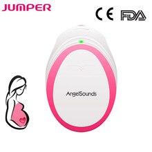 Фетальный допплер JUMPER, ультразвуковой детектор сердцебиения для детей, домашний допплер для беременных, монитор сердечного ритма для детей, карманный допплер