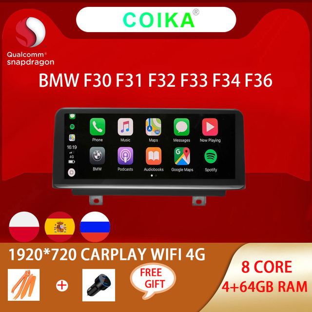 8 Core Snapdragon Android 10.0 System Car Radio For BMW 3 Series F30 F31 F32 F33 F34 F36 GPS Navi Stereo WIFI 4G LTE 4+64G RAM