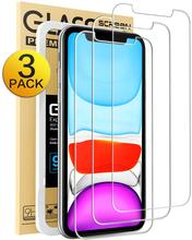 For iPhone XR Screen Protector, 11 Protector,Tempered Glass Film for Apple & 11, 3-Pack Clear