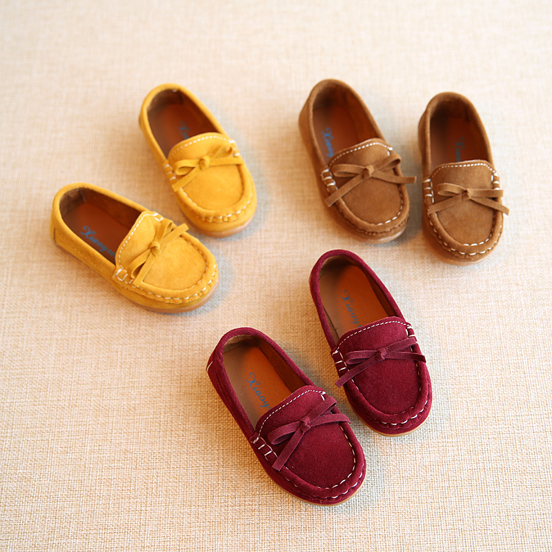 Leather Toddler Boys Shoes Little Kids Casual Shoes  Children Loafer Shoes Toddler Girls Shoes  Moccasins Baby