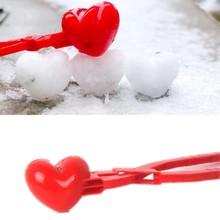 Coeur forme neige boule de neige fabricant pince fabricant neige sable moule outil hiver enfants enfants poupée jouets pour enfants fille garçon