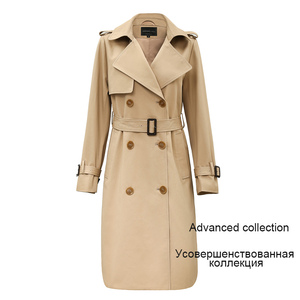 Image 2 - JAZZEVAR 2019 nueva primavera otoño moda Casual mujers khaki Trench Coat ropa larga suelta para dama con cinturón 850115