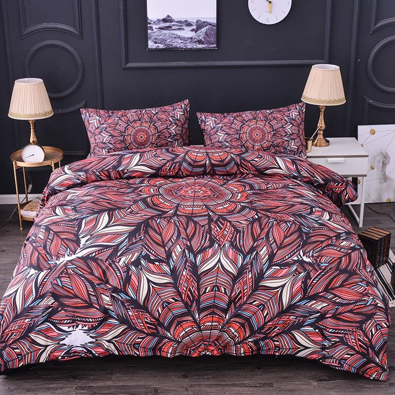 Набор постельного белья с 3D принтом, набор пододеяльников, наволочка, пододеяльник, пододеяльник, набор из пухового одеяла с пододеяльником