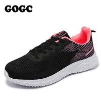 2020 chaussures plates pour femme vulcanisé chaussures à lacets solide plate-forme tricoté printemps automne chaussures à semelles compensées pour les femmes