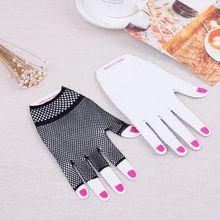 Women Men Unisex Hollow Out Fishnet Wrist Length Short Half Finger Gloves Solid Color Clubwear Dance Wedding Party Fingerless