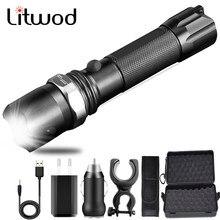 XM-L2 U3 – torche tactique lampe de poche Led Zoom, imperméable, en aluminium, Rechargeable par USB, batterie 18650 ou AAA, lanterne de vélo