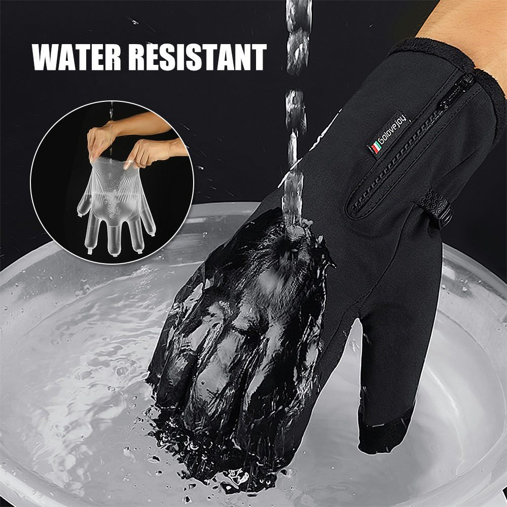 Winter Gloves Touch Screen Gloves Cold Weather Warm Waterproof With Anti-slip Palm And Thickened Fleece Lining For Men Women