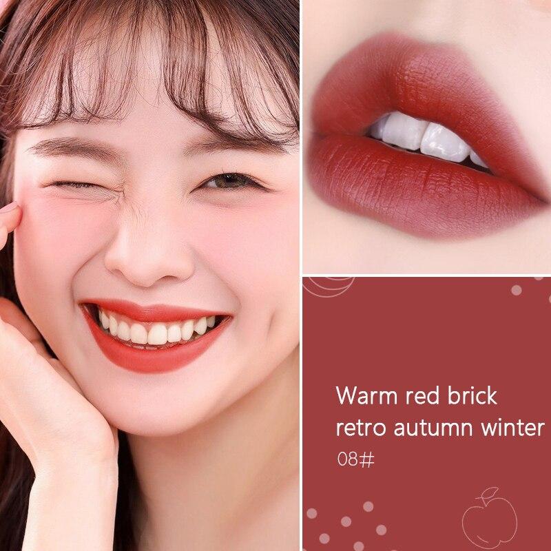Hot Sales Waterproof Velvet Glossy Lip Gloss Lipstick Lip Balm Sexy Red Lip Tint 8 Colors Women Fashion Makeup Gift Lipstick