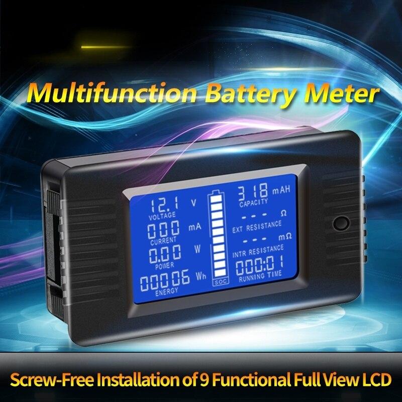 PZEM DC 0-200 в 300A Вольтметр Амперметр автомобильный тестер батареи сопротивление емкости Измеритель напряжения электроэнергии 12 В 24 в 48 в 96 в