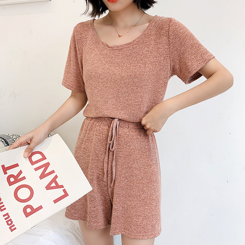 Wechat Business Hot Selling Three-piece Set Fairy Cool Set 2019 WOMEN'S Dress New Style Loose Casual WOMEN'S Short-sleeved Cloth
