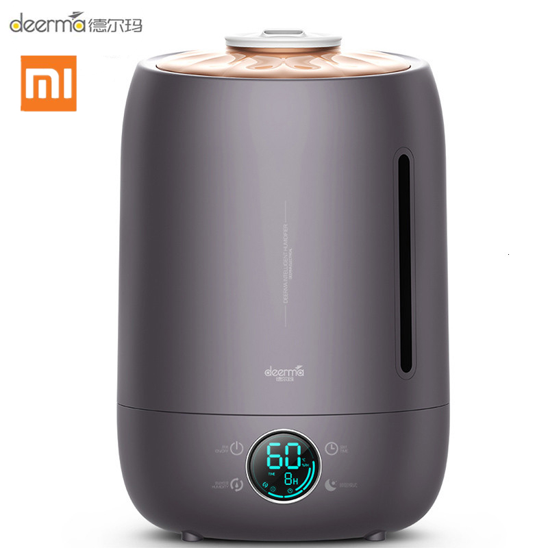 Xiaomi Deerma DEM-F630 Ultrasonic Humidifier 5L Touch Temperature Intelligent Constant Humidity Humidifier LED Digital Display