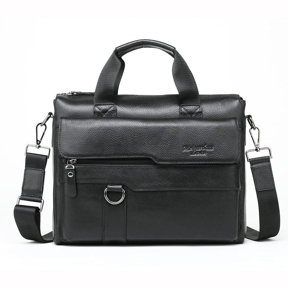 Men's Briefcase Tote Computer-Bag Business Real-Leather 13-Inch Male 100%Cow