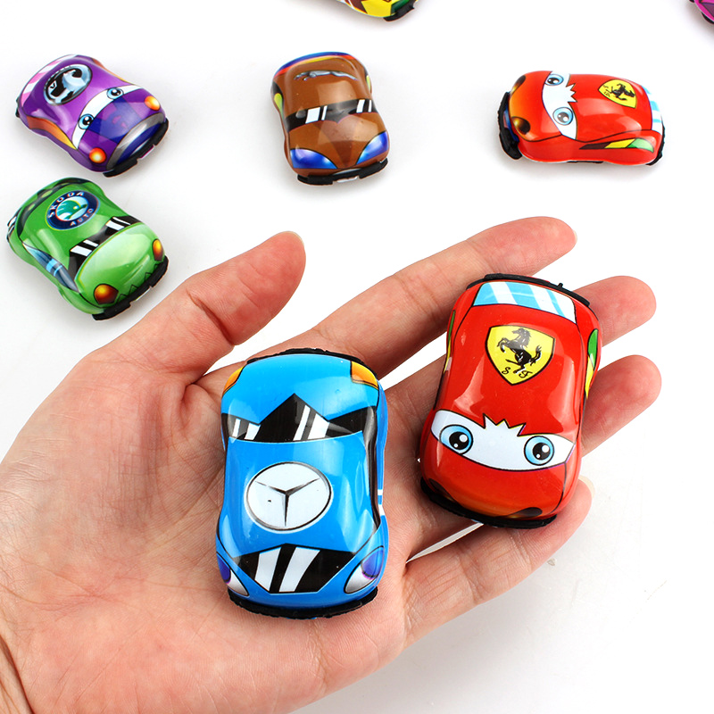 2pc Classic Vehicle Pull Back Car Toy Kids Parent-child Interactive Game Mini Retro Toy Racing Car Model Children Christmas Gift