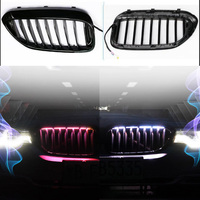 Car double kidney front sports grille strobe lights sync original car atmosphere lights For BMW new 5 Series G30 G38 18 20 year