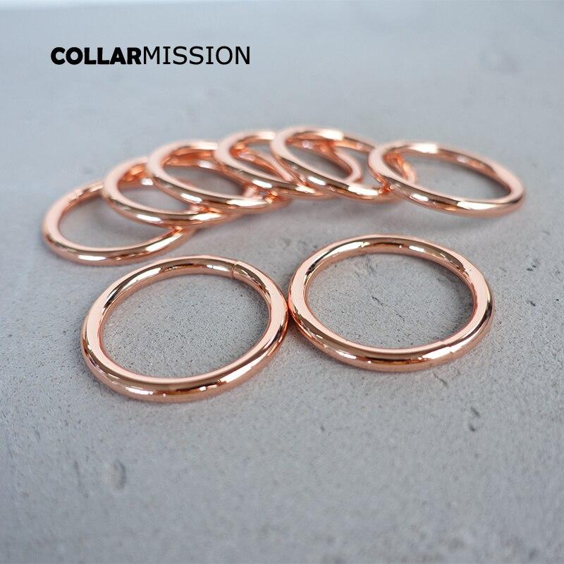 100 pcs/lot anneaux toriques en métal pour collier de chiot Pet 30mm sangle en cuir sac pièces à coudre accessoires à créer soi-même boucle en forme de O YH30M