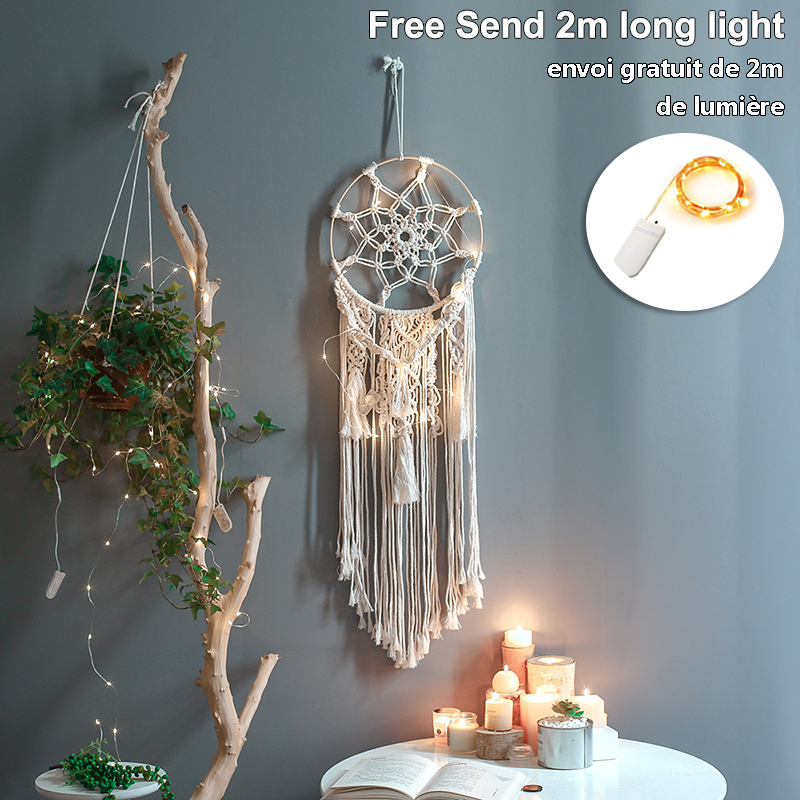 baby dream catcher nordic style decor nordic decoration home children's room decoration nursery decor=wind chimes dreamcatcher