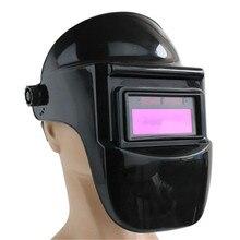 Large Viewing Welding Helmet Solar Powered Welder Mask Auto Darkening Welding Hood Side View