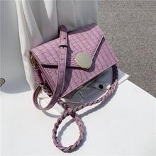 цена на Burminsa Summer Braided Strap Crossbody Bags For Women Crocodile Pattern Small Female Shoulder Bags Lock Ladies Flap Bags 2020