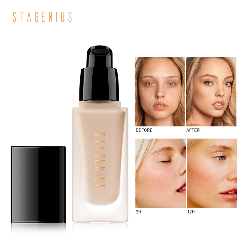 STAGENIUS Matte Full Coverage Oil Control High Quality Foundation SPF30 Protection Face Makeup Foundation