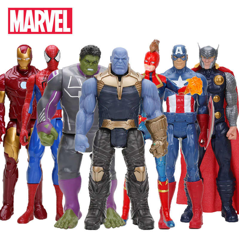 Hasbro Marvel Mainan Avenger Endgame 30 Cm Super Hero Thor Kapten Thanos Wolverine Spider Man Iron Man Action Figure mainan Boneka