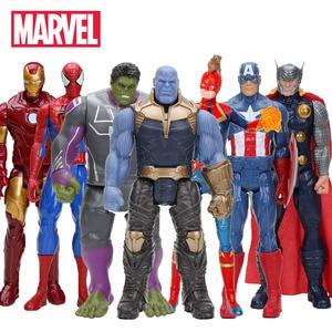 Hasbro Marvel Toys The Avenger Endgame 30CM Super Hero Thor Hulk Thanos Wolverine Spider Man Iron Man Action Figure Toy Dolls(China)