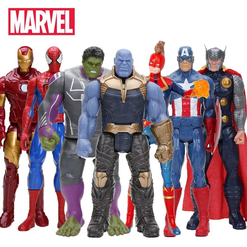 Marvel Toys The Avenger Endgame 30CM Super Hero Thor Hulk Thanos Wolverine Spider Man Iron Man Action Figure Toy Dolls